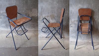 Dita Vintage: Chaise haute pliante Vintage